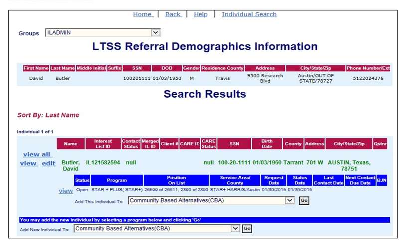 Transfers of Referrals from the LTSS Worker Portal to CSIL (DADS